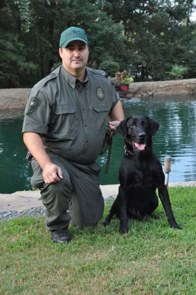 Sgt. Powell & K9 Bak Ark. Dept. of Corrections