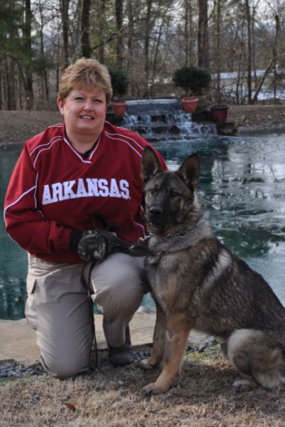 Karolyn Jackson and K9 Falco