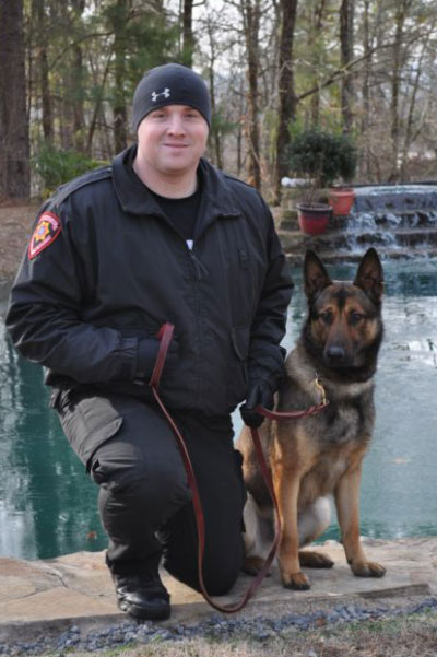 Officer Fowlkes and K9 Cafu